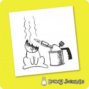 Bunny Suicides Death by Torch Fridge Magnet and Coaster Novelty Gift Items